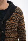Cappotto pesante del maglione delle lane di inverno degli uomini con i tasti