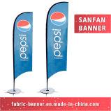 Indicateur promotionnel de clavette de plage de larme de vent de logo de compagnie pour la publicité