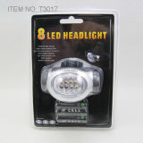8 PCS 밝은 백색 LED Headlamp (T3017B)