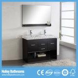 Vanité classique de luxe de salle de bains en bois solide avec les planches (BV138W)