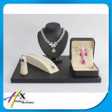 Étalage de luxe de bijou personnalisé par laque noire de piano pour des mémoires