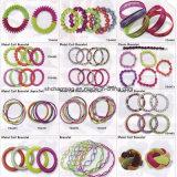 Bracelets d'enroulement en métal de bracelets de bout droit d'enroulement de ressort de couleurs