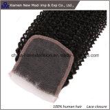 Estensione dei capelli della chiusura del merletto dei capelli umani della Cina Cruly