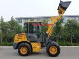 New Euro III Motor 1.5 Ton Cargadora de ruedas con joystick