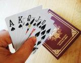 Tamanho 2 1/4 * 3 1/4 de polegada de póquer carda apropriado para o clube do casino