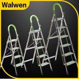 De Behendigheid die van het huishouden de Ladder van de Leuning van 6 Stap vouwen