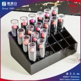 24 supporti acrilici del rossetto di buona qualità della fabbrica della stretta di griglia della fabbrica di stile poco costoso di schiocco