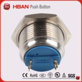 Metal 16mm em desligado Push Button Waterproof Momentary Switch Spst