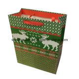 Glatter lamellierter Weihnachtspapier-Geschenk-Beutel für das Einkaufen und das Verpacken
