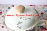 Potenciômetro bonito da sopa do potenciômetro do esmalte do leite de carneiros dos desenhos animados de Sunboat