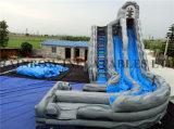 Diapositiva de agua gris inflable gigante determinada superventas (RB6084)