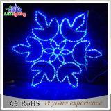 Indicatore luminoso esterno del fiocco di neve della decorazione di natale della via LED del giardino