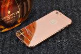 Caja de aluminio del teléfono celular de la parte posterior del espejo para el iPhone 6 Plus/6s más