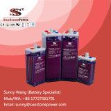 Batterie tubulaire noyée industrielle profonde d'Opzs de plaque du cycle 2V 1200ah
