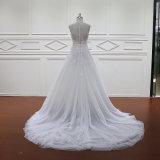 Горячий продавая a цвета слоновой кости - линия Bridal платья