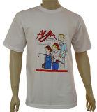Großhandelszoll-Baumwollweiß-T-Shirt 100%