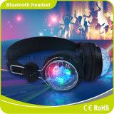 저속한 헤드폰을 기어오르는 다채로운 DJ LED 가벼운 무선 Bluetooth 헤드폰