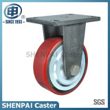 Powder Coater Iron Core PU Swivel Locking Caster Wheel