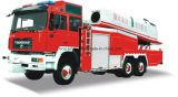 Огневой бой пневматической турбины верхнего качества HOWO перевозит пожарную машину на грузовиках пожарного насоса с высотой 16m-70m