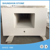 Bancada artificial da cozinha da pedra de quartzo para a venda