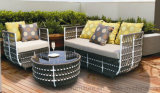 O sofá ao ar livre de Sectoinal do pátio ajustou 2016 na mobília de vime da plataforma do jardim do hotel do Rattan da resina do PE da venda