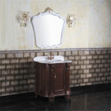 旧式な様式の床のミラーが付いている永続的な浴室用キャビネット