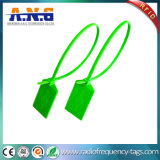 PPの荷物の軌道鋼索のタイの札の緑RFIDの札