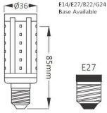 Lámpara del PLC G24D del bulbo SMD 5-15W del maíz del LED 360 grados
