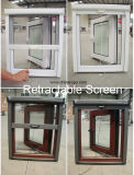 Venatura del legno UPVC/PVC Arch Window, Casement Window con Top Arch