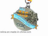 Medalha Running da estação de acabamento da lama da fuga da maratona 5k 10k do evento do costume com fita