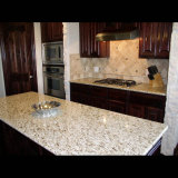 Île de cuisine ornementale de granit de Giallo