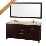 Gabinete del baño de madera sólida Fed-1908, vanidad del baño