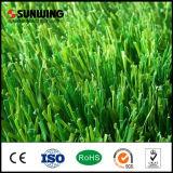 Couvre-tapis artificiel synthétique d'herbe de PE du coût bas 50mm pour la cour de jeu du football