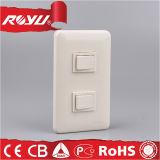 120 tipo interruptor de iluminación de la serie de Screwless Wh de la manera rápida de 16A