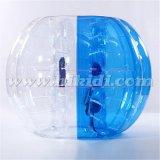 Medio equipo D5017 del balompié de la burbuja de la bola de la burbuja del fútbol de la burbuja del color TPU de la bola inflable de parachoques barata de la bola