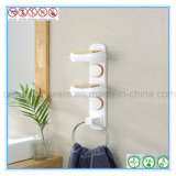 Badezimmer-Dusche-Wand-Seifen-Teller-Organisatoren mit Tuch-Ring