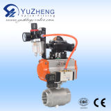 3PC Ball Valve mit Union Ende mit Pneumatic Actuator