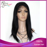 6A Yaki Glueless Lace Front Vigin indiano Human Hair Wigs
