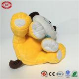 黄色いモデルによって刺繍される機能極度の柔らかい詰められた犬のおもちゃ