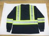 De weerspiegelende T-shirt van de Veiligheid met Lange Koker