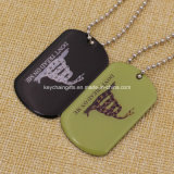 Option poco costoso Stainless Iron Silkscreen Printed Dog Tag con Epoxy