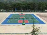El caucho sintético al aire libre cancha de baloncesto Suelos