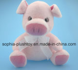 Brinquedo enchido macio do porco do luxuoso