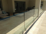 Base Channel를 가진 알루미늄 Frameless Glass Railing Design