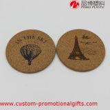 Práctico de costa redondo del material del corcho del regalo al por mayor de encargo de la promoción