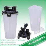 Plastikflasche des schüttel-Apparat600ml für Sport