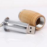 Movimentação de madeira do flash do USB do tambor de vinho (UL-W019)