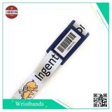 Evento Polyester Woven Wristband con il PVC Label, Printing Different Qr Code o Barcode di Hard