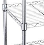 Whitmor Верховный 3-Tier провода Стеллажи - черный / серебристый