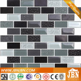 Streifen-Glasmosaik und Stein-Marmor für Wand-Hintergrund (M838003)